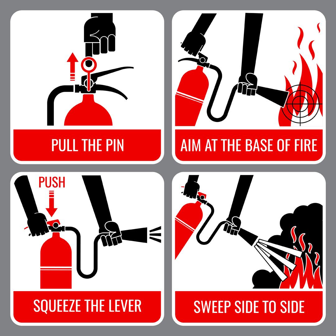 Denmark Hardware Hank Fire extinguisher vector instruction